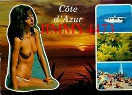 CPM - Une Belle Belle Jeune Fille Aux Seins Nus En 1987 - Côte D' Azur - Scans Recto-Verso - Pin-Ups