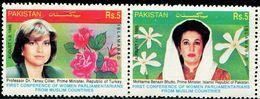 PK0009 Pakistan 1995 Prime Minister Of The Flower 2V MNH - Pakistan