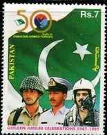 PK0010 Pakistan 1997 Land Air Force And National Flag 1V MNH - Pakistan