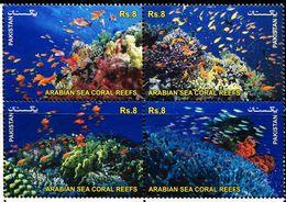 PK0015 Pakistan 2012 Submarine Coral And Fish 4V MNH - Pakistan