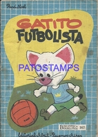 91077 ARGENTINA GATITO FUTBOLISTA BIBLIOTECA BOLSILLITOS 167 ED ABRIL LIBRILLO NO POSTAL POSTCARD - Livres, BD, Revues