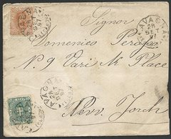 ITALY 1897 25c Cover To USA................................................47828 - Italy