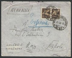 ITALY FORCES IN LYBIA 1942 Airmail Cover POSTA MILITARE N.27 To Naples....10374 - Italy
