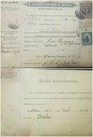 O) 1916 CHILE, CUPON ENCOMIENDAS, F. ALBANO 1 PESO, FEDERICO ERRAZURIZ 50 CENTAVOS, VERY NICE - Chile