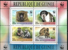 GUINEE 2000 WWF BLOC BABOUINS   YVERT N°B  NEUF MNH** - W.W.F.