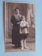 DAME Met Kind (Jongen / Pierre ) Foto Studio M. ROORYCK Enghien Les Bains - Anno 1926 ( Voir Photo ) ! - Photographs