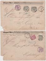 Dt.Reich 1882 Bochum 2 Wertbrief-VS Mit MiF 40ZS,44,44ZS Und 40,41,44ZS - Deutschland