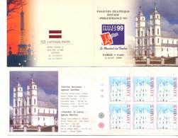 "1999. Latvia, Exhibition""PhilexFrance\'99\"", Chuches Of Latvia, Booklet, Mint/** - Letland"
