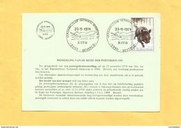 Bijzondere Afstempeling / Oblitération Commémorative : Verzamelclub - Germinal - Beringen - Rito : Beverlo : 1974 - Marcophilie
