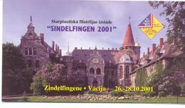 "2001. Latvia, Stamp Fair ""Sindelfingen 2001"", Mich. 555, Booklet, Mint/** - Letland"