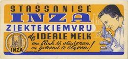 Inza Melk - Du Lait  ( Schoten )  Microscoop :  (  Niet Gebruikt Perfecte Staat ) - Buvards, Protège-cahiers Illustrés