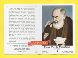 Image Pieuse Religieuse Holy Card Santini Illustration Priere Glorification PADRE PIO De Pietrelcina ( RELIQUE ) - Images Religieuses