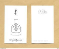 Carte Parfumée Perfume Card MON PARIS * YVES SAINT LAURENT YSL * R/V - Modernes (à Partir De 1961)