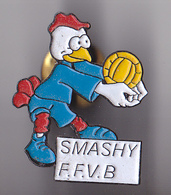 PIN'S THEME SPORT  VOLLEY BALL MASCOTTE SMASHY DE LA FEDERATION FRANCAISE - Volleyball