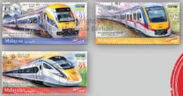 2018 Electric Train Service ETS Railway Locomotive Stamp Malaysia MNH - Malaysia (1964-...)