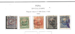 Perù Official 1890 Em.reg.Ovpr. Scott.O2/O6+ Used. See Scans On Scott.Pages - Peru