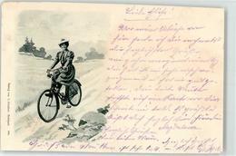 52110563 - Frau Mit Fahrrad Sign. Hildenbrand, H. - Motorräder