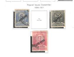 Perù Official 1896/1901   Em.reg.Ovpr. Scott.O23+25+26+ Used. See Scans On Scott.Pages - Peru