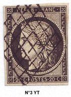 N° 3 Y&T - 1849-1850 Cérès