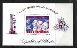 LIBERIA 1965  BLOC 1er HOMME SUR LA LUNE   YVERT N°B47  NEUF MNH** - Africa