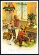 B1353 - Charlotte Baron Glückwunschkarte - Kinder Geschenke - Bunkowsky - Gel 1956 - Weihnachten