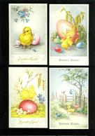 Beau Lot De 60 Cartes Postales Fantaisie  Pâques ( Non écrites ) Mooi Lot 60 Postkaarten Fantasie  Pasen ( 32 Coloprint) - Cartes Postales