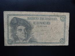 ESPAGNE : 5 PESETAS  5.3.1948  P 136a   TB - 5 Pesetas