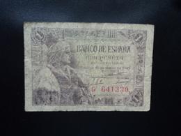 ESPAGNE : 1 PESETA  15.6.1945  P 128a   B+ - [ 3] 1936-1975 : Regency Of Franco