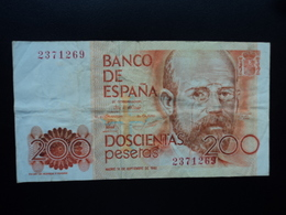 ESPAGNE : 200 PESETAS  16.9.1980   P 156    TTB / VF - [ 4] 1975-… : Juan Carlos I