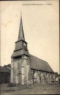 Cp Grattepanche Somme, L'eglise, Blick Auf Die Kirche, Automobile - France