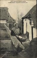 Cp Fort Mahon Plage Somme, La Mère Sophie, Type Pecheuse De Crevettes, Garnelenfischerin - France