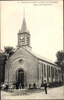 Cp Estreboeuf Saint Valery Environs Somme, Eglise, Straßenpartie Mit Blick Auf Die Kirche - France