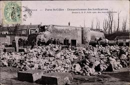 Cp Abbeville Porte St. Gilles Somme, Démantélement Des Fortifications, Festungsruine, Pferd - France