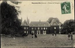Cp Moyenneville Somme, Chateau De Valanglan, Blick Auf Das Schloss, Rankenbewuchs - France