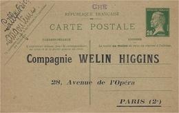 C P E P Pasteur 20 C Vert  Pré Repiquée  Cie Welin Higgins - Cartoline Postali Ristampe (ante 1955)