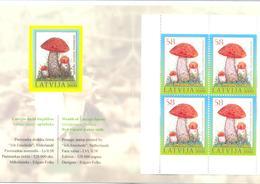 "2008. Latvia, Philatelic Exhibition"" WIPA 08,Wien, Austria"", Mushrooms, Booklet, Mint/** - Letland"