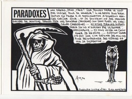 Illustrateur Jacques LARDIE (JIHEL) - Série Allégorie Sociale - Paradoxes Le Loup Des Vosges Et Les Moutons Brûlés Vivan - Illustrateurs & Photographes
