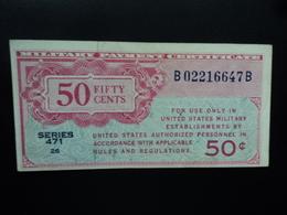 ETATS UNIS D'AMERIQUE : MILITARY PAYMENT CERTIFICATE : 50 CENTS  ND 1947  P M11   SUP - Military Payment Certificates (1946-1973)