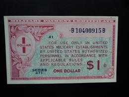 ETATS UNIS D'AMERIQUE : MILITARY PAYMENT CERTIFICATE : 1 DOLLAR  ND 1947  P M12   SUP+ - Military Payment Certificates (1946-1973)