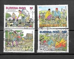 TIMBRE OBLITERE DU BURKINA DE 2013 N° MICHEL 1970/73 - Burkina Faso (1984-...)