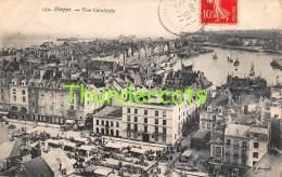 CPA 76 DIEPPE  VUE GENERALE  ( PLIS ) - Dieppe