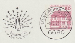 T 59) MWSt Neunkirchen - Saar 1985: Pfau, Zoo - Peacocks
