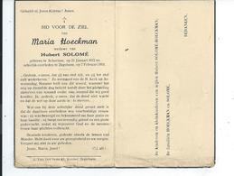 B.P.   SCHORISSE HOECKMAN  MARIA 1872 - 1951 ZEGELSEM - Religion & Esotericism