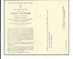 B.P.   SCHORISSE HOECKMAN  EMILIE 1882 - 1955 - Religion & Esotericism