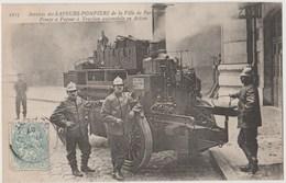 CPA 75 PARIS Services Des SAPEURS POMPIERS De La Ville De Paris - Pompe à Vapeur à Traction Automobile - Sin Clasificación