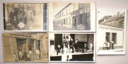 5 X Carte Photo Commerce Peinture Vitrerie Rochefort Sur Mer ? Succursale à Port Des Barques Charente Maritime - Autres Communes