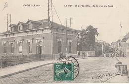18 / 3 / 284  -  CHOISY - LE - ROI  ( 94 )  - LA  GARE   ET  PERSPECTIVE  DE  LA  RUE  DU  PONT - Choisy Le Roi