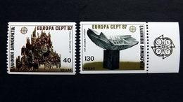 Griechenland 1651/2 C **/mnh, EUROPA/CEPT 1987, Moderne Architektur - Ongebruikt