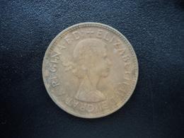 AUSTRALIE : 1/2 PENNY  1960 (p)   KM 61  SUP - Monnaie Pré-décimale (1910-1965)