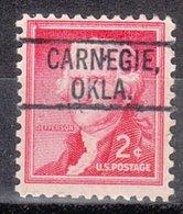 USA Precancel Vorausentwertung Preo, Locals Oklahoma, Carnegie 802 - Vereinigte Staaten